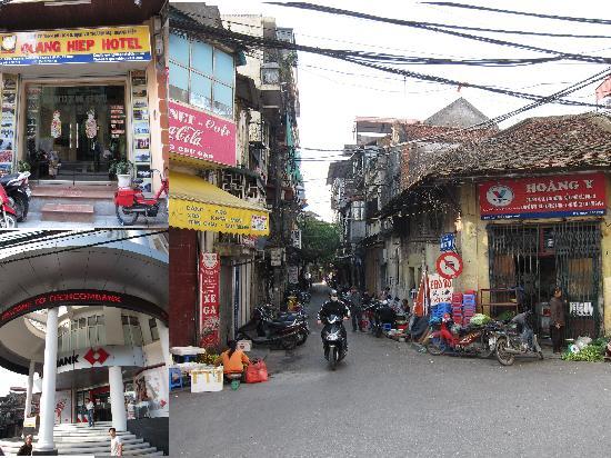 Quang Hiep Hotel: 大通りを南に歩き、目立つテコムバンクの左を入る