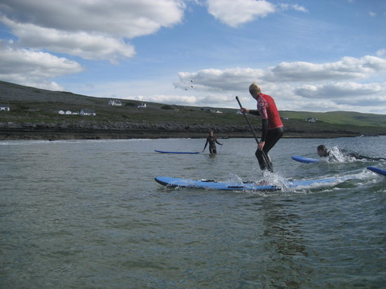 Fanore, Ireland: Stand Up Paddle Surfing
