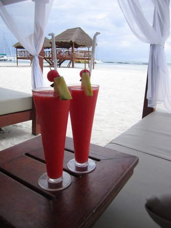 El Dorado Maroma, a Beachfront Resort, by Karisma: delicious tropical drinks