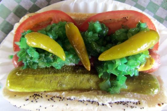 KaCey's Seafood and More: Chicago Dog