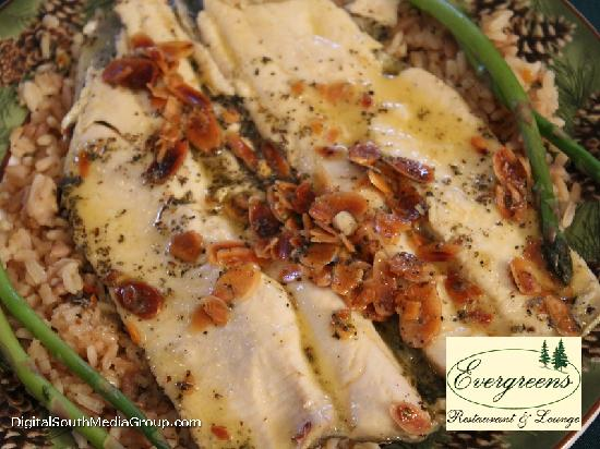 Evergreens Restaurant and Lounge : Trout Entree