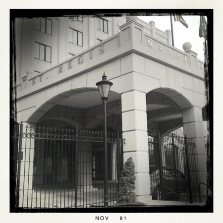 Hotel St. Regis : driveway