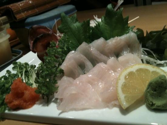 Fuji Sushi Restaurant: Kasago sashimi!!