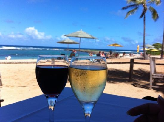 Ola at Turtle Bay Resort: new definition of an umbrella drink!