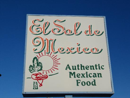 El Sol De Mexico: Sign to look for!