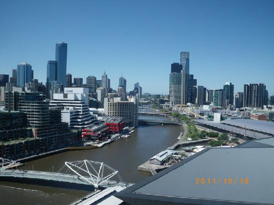 Melbourne South Wharf:- view from room