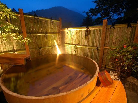 Shima Onsen Kashiwaya Ryokan: Private Onsen bath