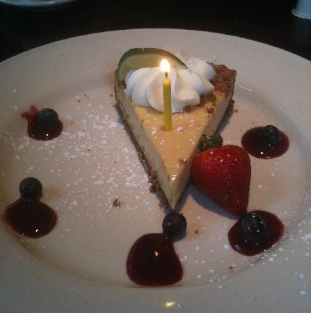 Key Lime Pie Birthday Dessert Picture Of Pappadeaux