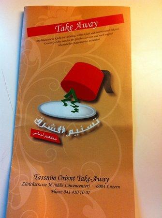 Tassnim Orient: the pamphlet I took