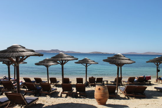 ‪‪Mykonos Grand Hotel & Resort‬: The hotel's private beach‬