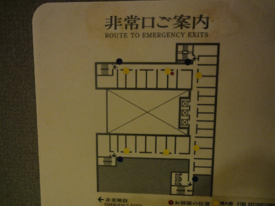 Kichijoji Daiichi Hotel : 建物の造りと、部屋の配置です。