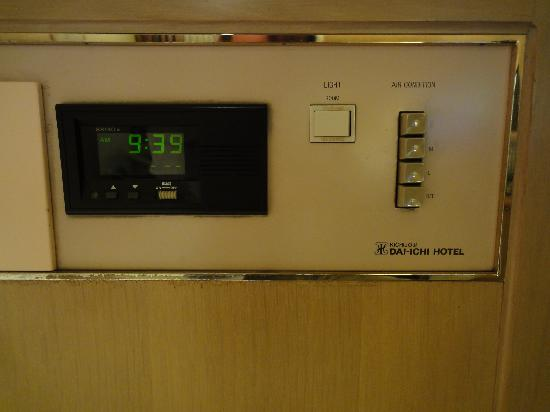 Kichijoji Daiichi Hotel : 空調ボタンです。