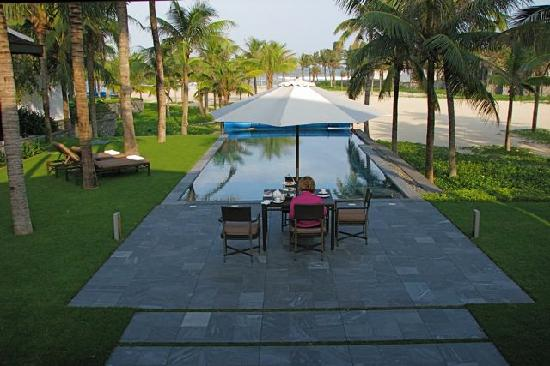 The Nam Hai Hoi An: Our own private pool facing the waves
