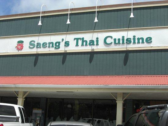 Saeng's Thai Cuisine: 店舗看板