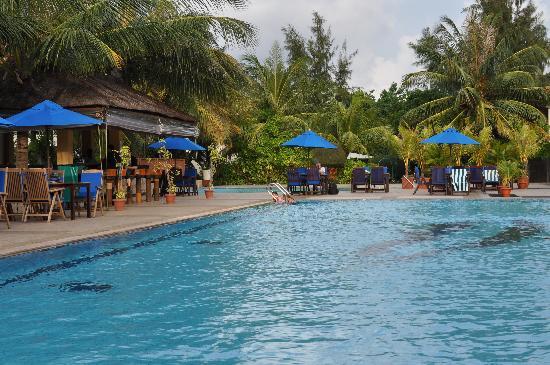 Hulhule Island Hotel: Pool Bar