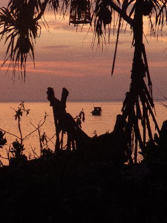 มูนไลท์ เบย์ รีสอร์ท: Sunset view from restaurant