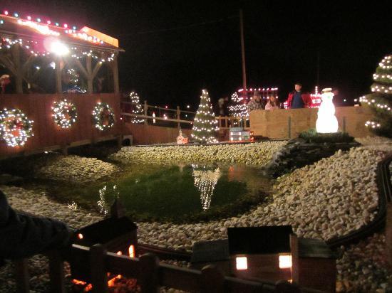 Kissing Bridge with train - Picture of Koziar's Christmas Village ...
