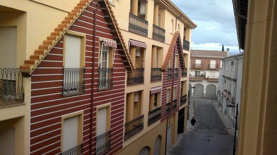 Casa del Trigo: callecita de atras vista desde el balcon