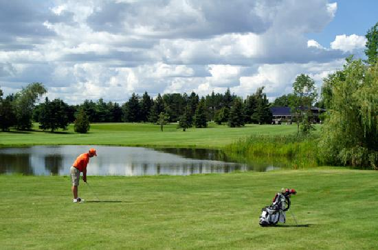 Colonnade Golf and Country Club: pond along #9 fairway