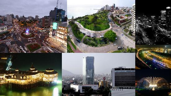 Lima, Peru: collage of various city attractions