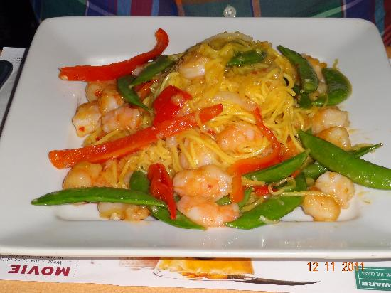 Planet Hollywood: Spicy shrimps