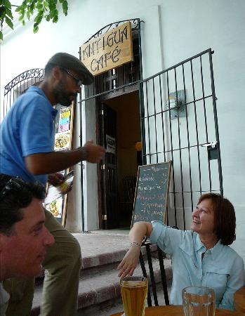 Cafe Antigua : The owner of the Antigua