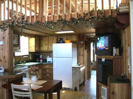 Rim Rock's Dogwood Cabins: Kitchen Deer Run
