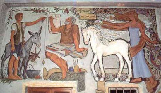 Galleria all'aperto dell'affresco di Arcumeggia, Casalzuigno : uno dei bellissimi affreschi originari