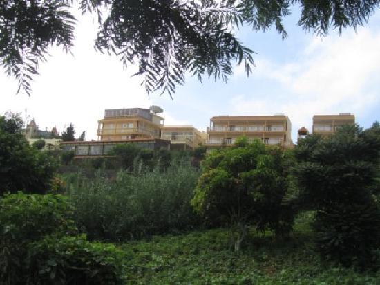 Quinta da Montanha Hotel: View from bottom of garden front road