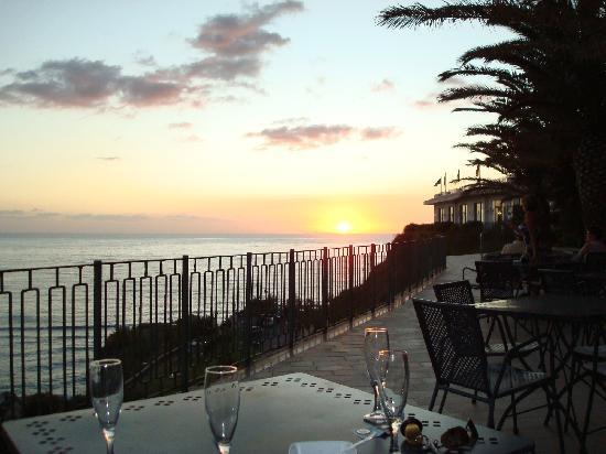 Hotel Terme Royal Palm : tramonto dalla terrazza del bar