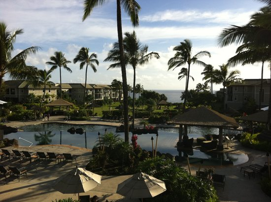 Westin Princeville Ocean Resort Villas: View from the athletic centre