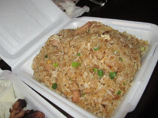 Spam Fried Rice - Picture of Barbecue Kai Incorporated, Waianae ...