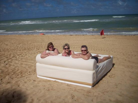 Excellence Punta Cana: beds on beach