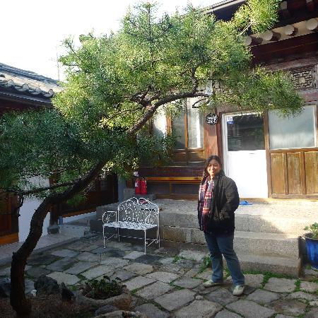 So Sun Jae Guesthouse : In front of the kitchen. Small courtyard in the middle. Rooms are surrounding the courtyard, som