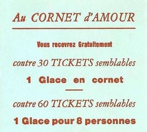 Le Cornet d'Amour: Mes tickets du cornet d'amour à Berck-plage