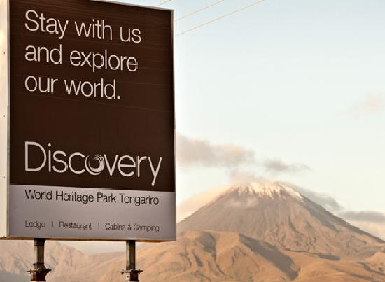 Discovery Lodge: Discovery Sign & Mt Ngauruhoe