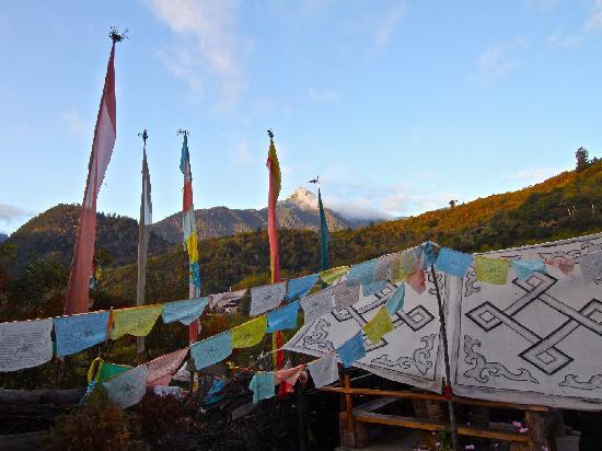 Zhuo Ma's Jiuzhaigou Home Stay : View from Zhou Ma's