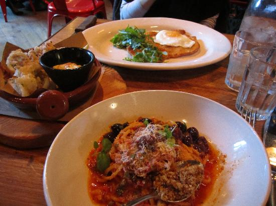 Jamie Oliver's Italian Covent Garden: Our 3 lunch dishes, delicious!