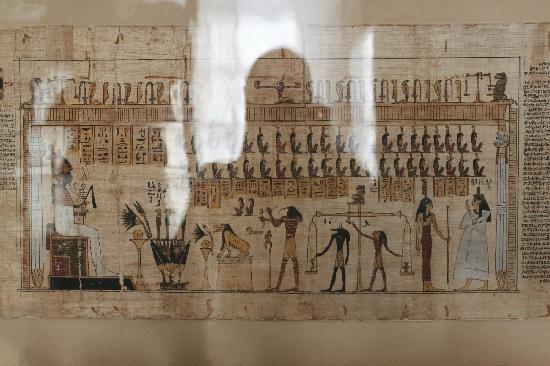 Musée égyptologique de Turin : Tribunal de Osiris.