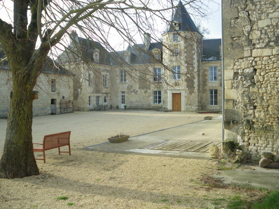 Chinon, France : the chateau in winter