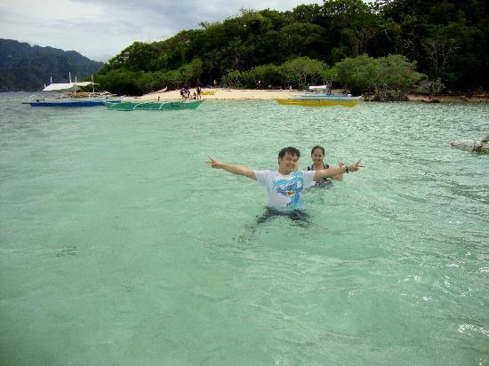 Corn Youth Club Beach: swimming at cyc