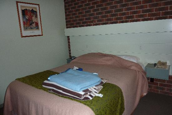 Lamplighter Motor Inn: The Bed -the extra blankets are what I had to go ask for.