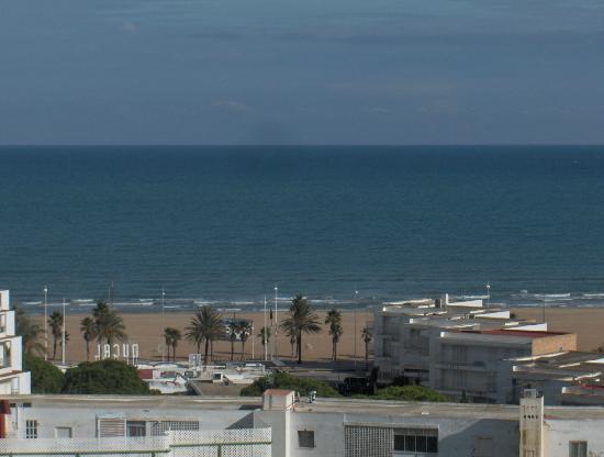 Hotel Gandía Palace: La playa desde el  piso 10