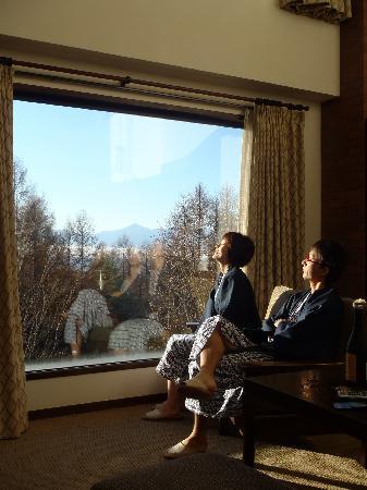 Hotel Harvest Tateshina: 大きな窓