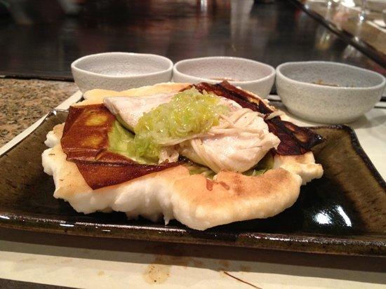 Teppanyaki Restaurant Sazanka : 3eme plat - bar cuit en croute