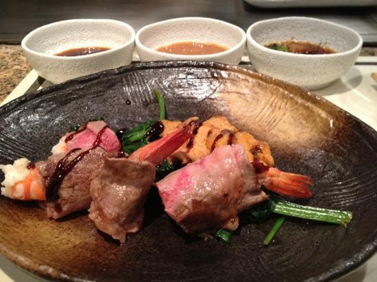 4eme plat - gambas roulées dans de la viande (36915776)