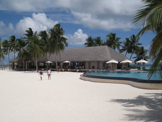 Veligandu Island Resort & Spa: pool and bar