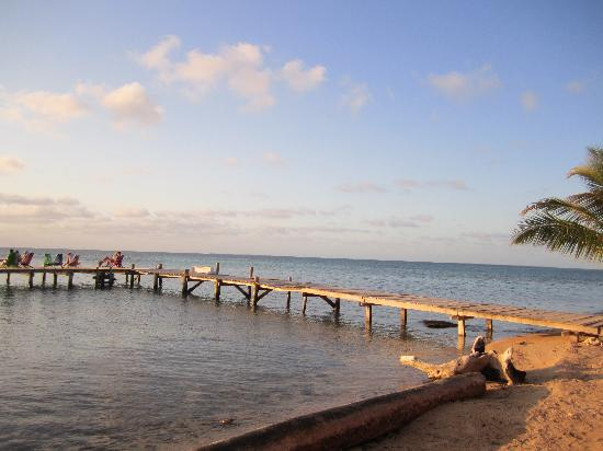 Tobacco Caye Lodge: The dock