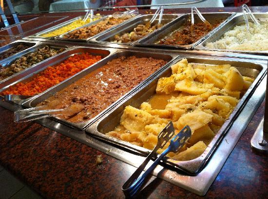 Hotel Roc Arenas Doradas: glace FONDUE servit au buffet...