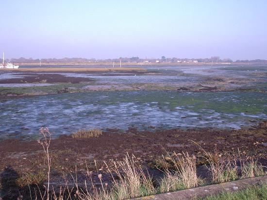 Mill Rythe Holiday Village: Sea with tide out